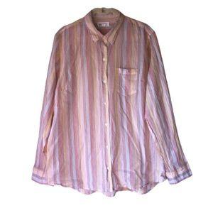 GAP • Stripe Button Up Blouse